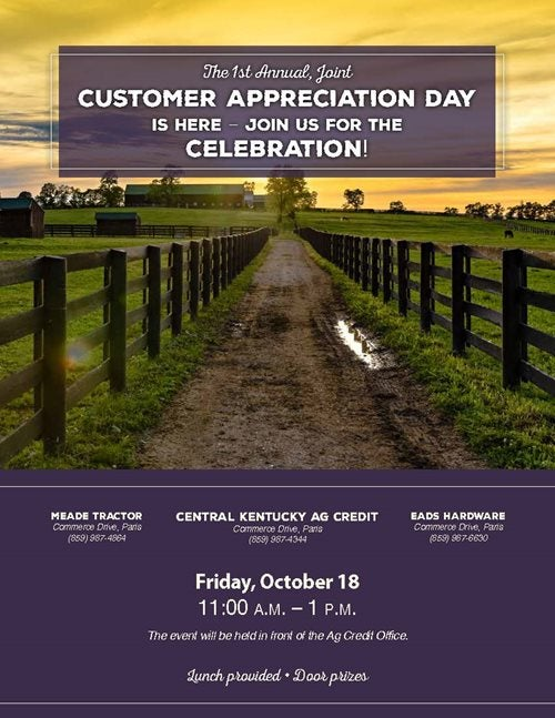 Paris Branch customer appreciation day flyer