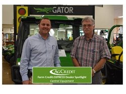 Tom Zack Evans, Ag Credit Loan Officer with Rick Flannery, Central Equipment Sales.
