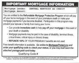 mortgage card